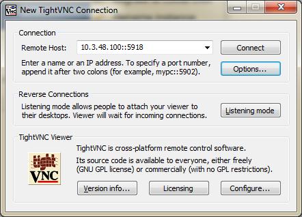 7. Conexión TightVNC